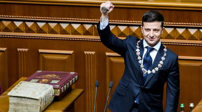 Volodymyr Zelensky sworn in as Ukraine's sixth president