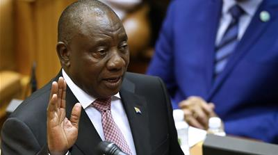 South Africa's parliament elects Cyril Ramaphosa as president