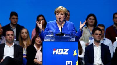 Merkel: No knowledge of nationalist song played at Croatia rally