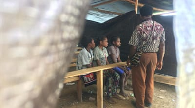 Frightened and displaced, Papua children haunted by conflict