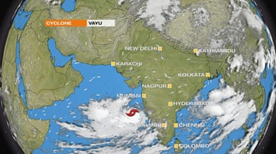 Cyclone Vayu poised to hit India as year's second major storm