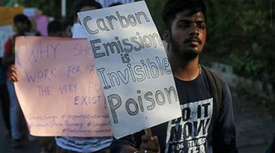 Climate change protester in Mumbai, India May 2019