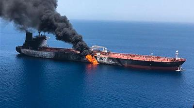 Explosions reported on two tankers in Gulf of Oman