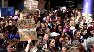 Women rally for equal pay, gender parity in Switzerland