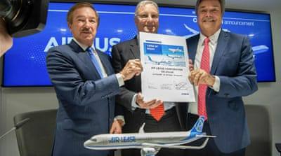 Airbus beats Boeing to land 100-plane deal at Paris air show