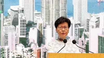 Hong Kong's lame duck? Leader Lam faces fight for political life