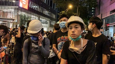 Thousands of protesters again hit Hong Kong's streets