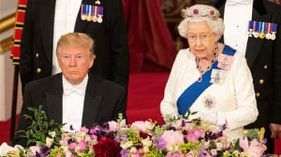 Trump gets royal welcome in day of British pageantry