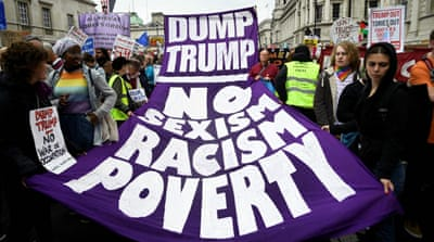 Londoners give Donald Trump raucous welcome