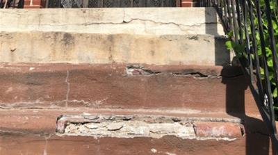 HDFC Crumbling steps NYC