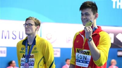 Australian swimmer's podium snub to Chinese rival stirs row
