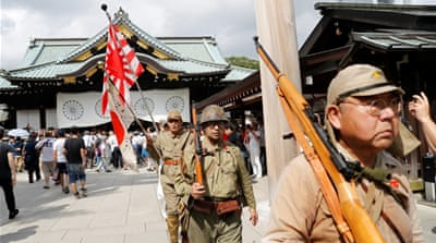 Japan's Abe skips Yasukuni shrine visit but sends offering