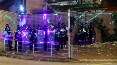 Laser beams, Twitter war: The tech side of Hong Kong protests