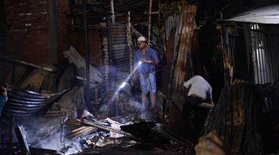 10000 homeless after fire razes Bangladesh slum