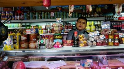 Luis: Luis Coronel stands in a cheese and charcuterie shop where he works in the Buenos Aires neighbourhood of Floresta/Photo Natalie Alcoba