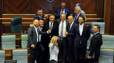 Crisis-hit Kosovo disbands parliament
