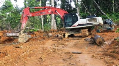 Brazil:  A digger used for illegal