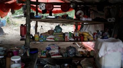 Brazil Gold Minen improvised kitchen