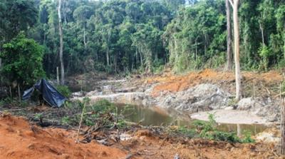 Brazil: An illegal mining pit on an indigenous territory  i