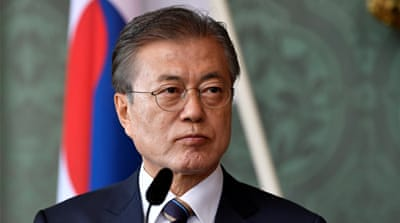 Moon: Trade dispute with Japan helps no one