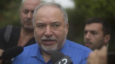 Avigdor Liberman Visits The West Bank Settlement of Ma'ale Adumim Ahead Of Elections
