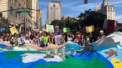 Global Climate Strike: Tens of thousands rally across the US
