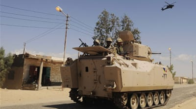 Egyptian security forces kill 15 in restive North Sinai