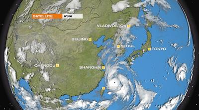 Typhoon Lingling bears down on Korean Peninsula
