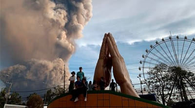 Philippines on alert as volcano spews ash, steam and lava