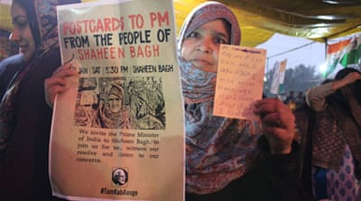 India's anti-CAA protesters launch postcards to PM Modi campaign
