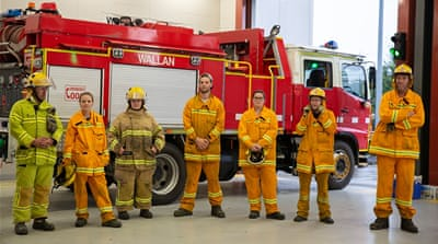 'Mateship and comradery': Australia's soot-covered firefighters