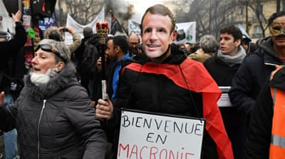 Thousands join protests over pension reform across France