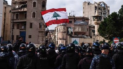Lebanon gov't wins Parliament's confidence vote despite protests
