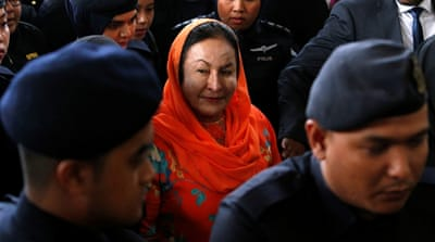 Ex-Malaysian PM's wife Rosmah Mansor absent on first day of trial