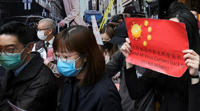 Hong Kong medical workers strike to demand total border closure