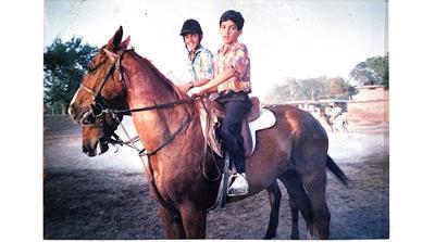 Pakistani equestrian Usman Khan and his brother [Courtesy of Usman Khan]
