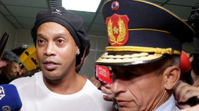 Ronaldinho arrested in Paraguay in fake passport case