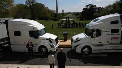 Once recession-proof, US trucking is squeezed by coronavirus