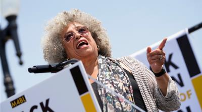 Angela Davis: 'Racism is embedded in the fabric of this country'