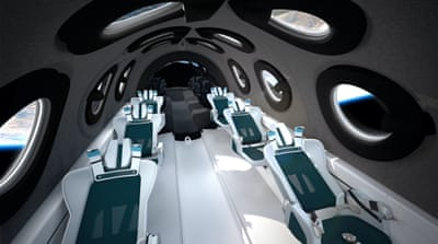 Virgin Galactic unveils interior of centrepiece space plane