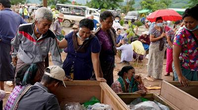 Families mourn as Myanmar jade mine disaster kills more than 170
