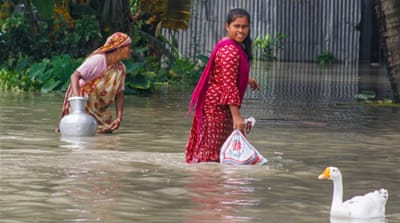 Growing floods toll hampers coronavirus efforts in South Asia