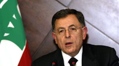 Siniora attacks Lebanon strike call
