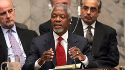Annan urges Middle East peace push