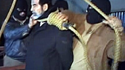 Saddam hanged at dawn