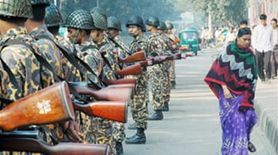 Troops deployed in Bangladesh