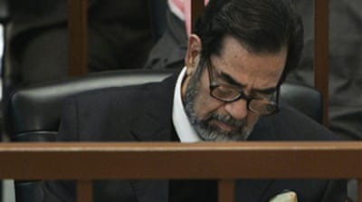 Saddam appears in genocide trial