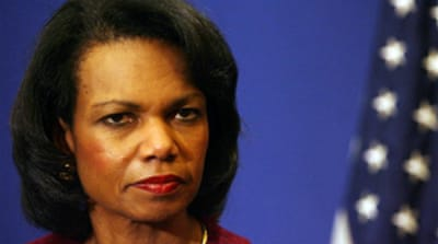 Rice plans three-way Mideast summit