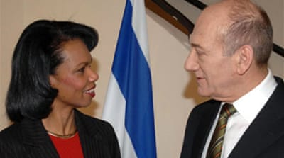 Olmert and Rice call peace summit