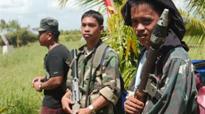 Filipino troops clash with rebels